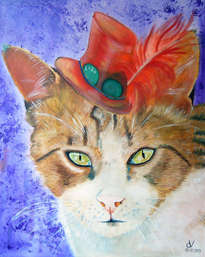 retrato de la gata lola de velez-blanco