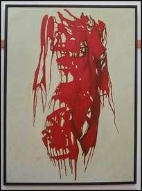 desnudo en rojo