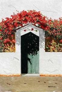 puerta azul