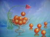 naranjas en cielo y hielo