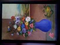 bodegón y flores