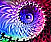fractal  ,  espiral  de   colores