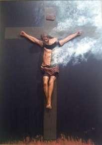 cristo difuminándose hacia los cielos