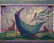 los ángeles de las mareas - ( enmarcado 3d efecto -tríptico)