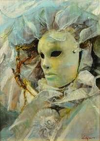 la mascara en blanco (venezia)