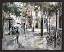 barcelona-paisaje-urbano-poble sec-oleos-pintor-ernest descals