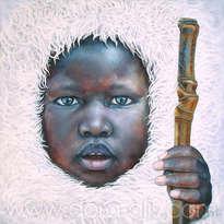 niño de raza negra 87 (el niño que ha visto al budha)