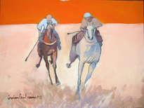 caballos, carrera, jockeys