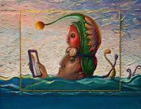 selfie con los pescados - ( enmarcado )