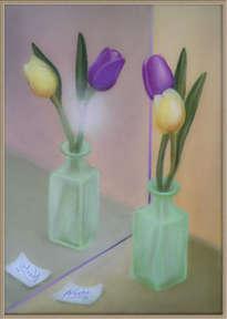 tulipanes frente al espejo