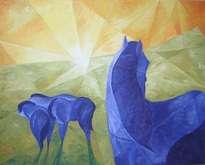 blaue pferde, variación