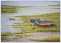 barcas en la marisma