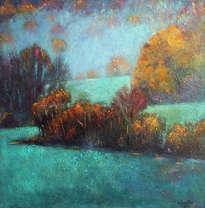paisaje verde cálido