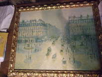 reproducción de camille pissarro avenida de la opera de paris y plaza del teatro francés (1872)