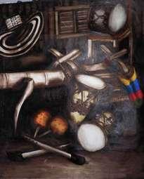 angarilla con instrumentos