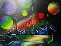 barco sobre planetas