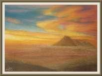 volcan misti - arequipa (pastel)