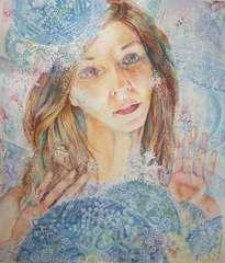 magic of the snow, woman portrait