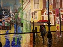 la mujer del paraguas