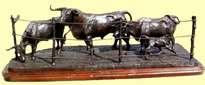 grupo de toro y vaca