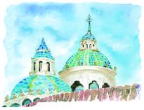cúpulas de la iglesia de la compañía