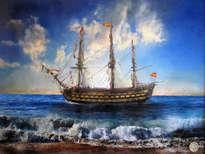 el galeón santa ana en la costa de cádiz