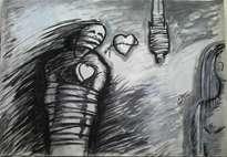 un corazon alambrado
