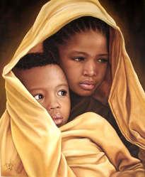 la virgen niña y el niño