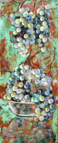 bodegó raïm 1 - bodegón uvas 1