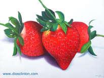 fresas al óleo