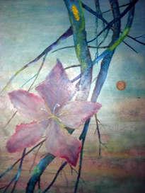 la flor, un óleo de alberto thirion
