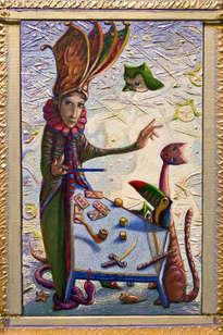 el mago de tarot - ( enmarcado )