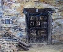puerta de pueblo