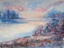 calma en el lago
