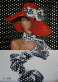 mujer con sombero