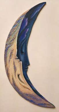 yin & yang, moonerang -(escultura pintada )
