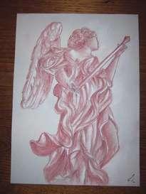 angelo con gli strumenti della passione, castel sant\'angelo roma