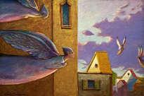 ángeles sobre la ciudad - ( listo para colgar )