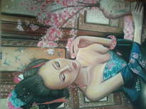 geisha al pastel
