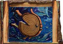el pez corteza - ( enmarcado )