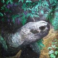 tortuga terrestre gigante de galápagos.