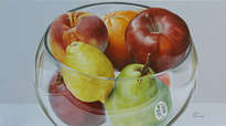 cristal y frutas