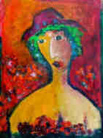 laubar - simple woman - oil on canvas print  1/10 2013