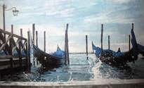 dos gondolas en venecia