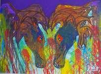 hno. oscr galo ( caballos picassinos - hno. oscr galo ( 491 x 126 cm ( precio us$ 14,000