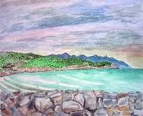 paisaje de vilanova i la geltrú con mar