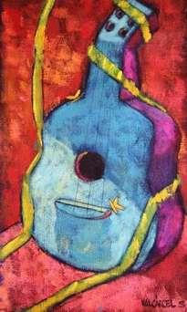 guitarra con cinta