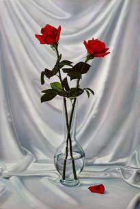 jarrón con dos rosas (py-1680)