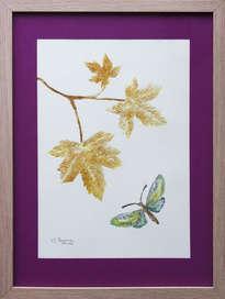 mariposa llegando a su rama