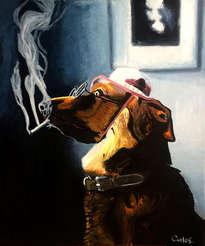 perro reflexivo